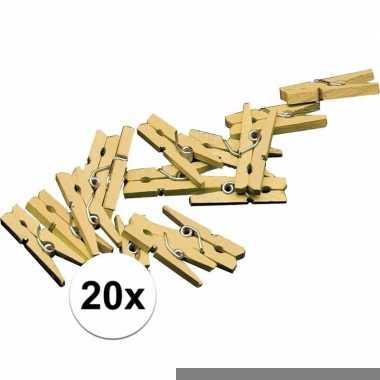 Mini knijpers in het goud 20x
