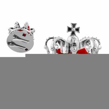 Mini konings kroontje zilver