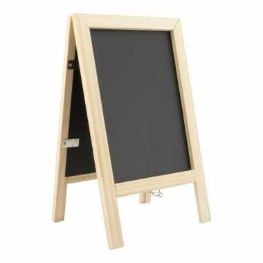 Mini krijt stoepbord met fotolijstje 25 cm