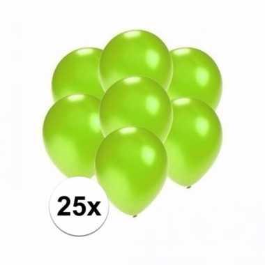 Mini metallic groene decoratie ballonnen 25 stuks