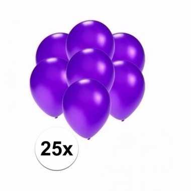 Mini metallic paarse decoratie ballonnen 25 stuks