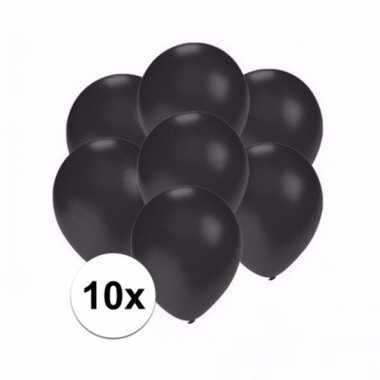 Mini metallic zwarte decoratie ballonnen 10 stuks
