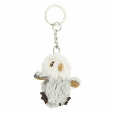 Mini uil met sleutelhanger 6 cm