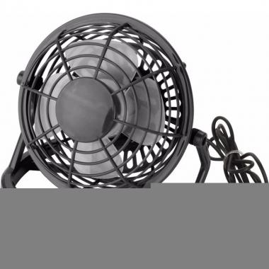 Mini ventilator usb zwart