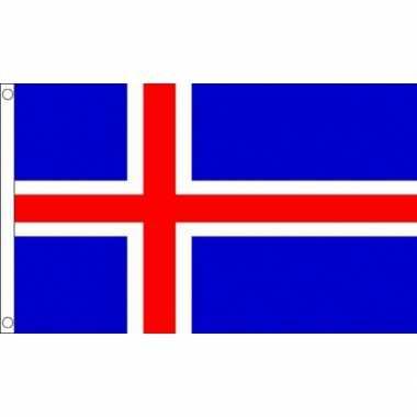 Mini vlag ijsland 60 x 90 cm