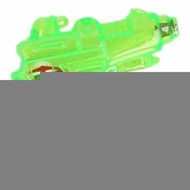 Mini waterpistool groen 7 cm
