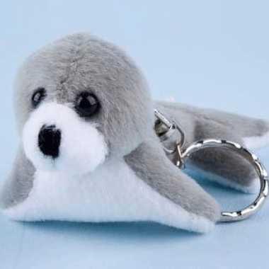 Mini zeehondje sleutelhanger 10 cm