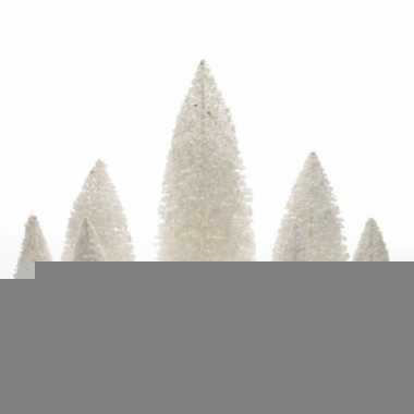 Miniatuur boompjes wit 9 stuks