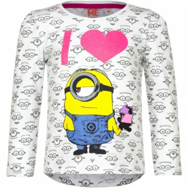 Minion t-shirt wit