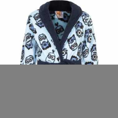 Minions fleece badjas blauw voor jongens