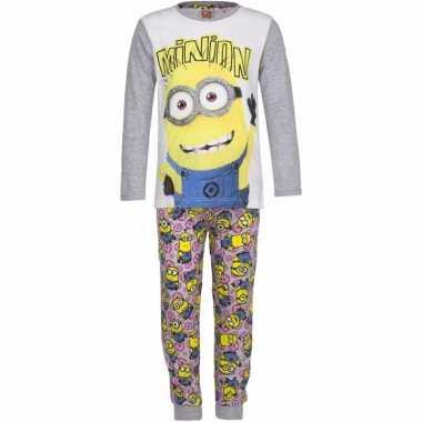 Minions pyjama grijs voor meisjes