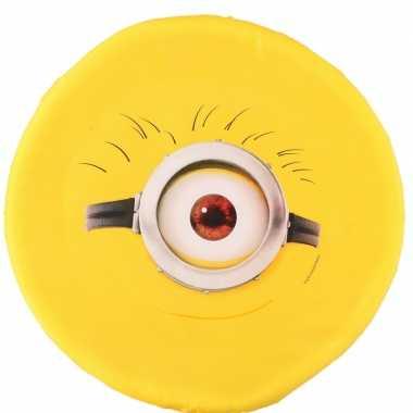 Minions schuim frisbee geel een oog 42 cm
