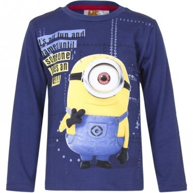 Minions t-shirt blauw voor jongens