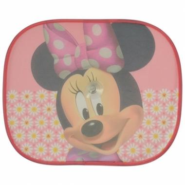 Minnie mouse roze auto zonnebeschermers 2 st