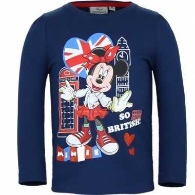 Minnie mouse t-shirt blauw voor meisjes