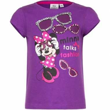 Minnie mouse t-shirt paars voor meisjes