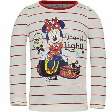 Minnie mouse t-shirt wit/rood voor meisjes