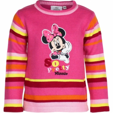 Minnie mouse trui fuchsia