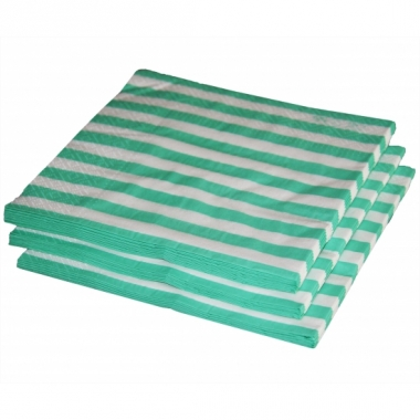 Mint kleur papieren servetten 33 x 33 cm