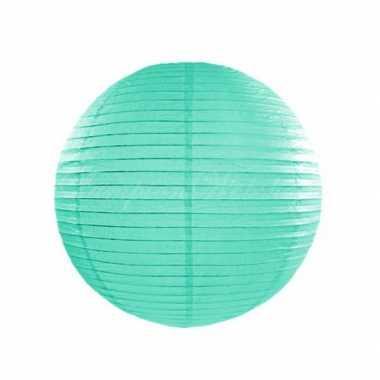 Mint ronde lampion 25 cm