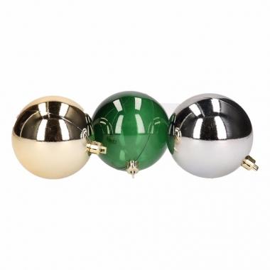 Mix kerstballen pakket blauw glans en groen doorzichtig