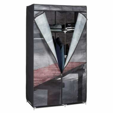 Mobiele opvouwbare kledingkast lake 160 cm