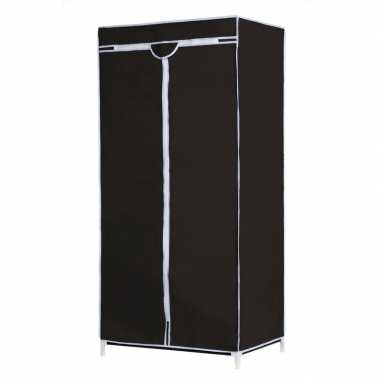 Mobiele opvouwbare kledingkast met zwarte hoes 160 cm