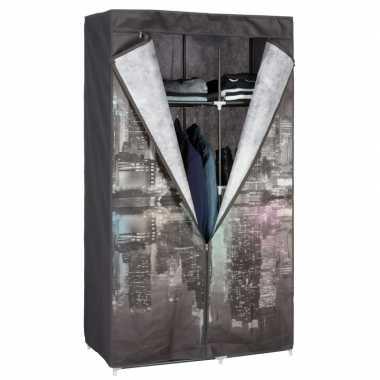 Mobiele opvouwbare kledingkast new york night 160 cm