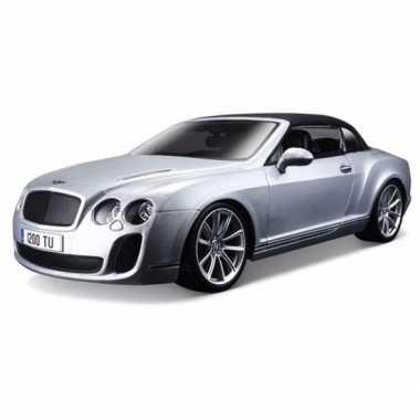 Modelauto bentley continental 1:18 zilver