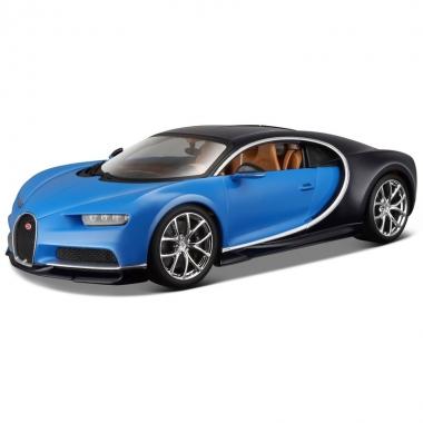 Modelauto bugatti chiron 1:43 blauw