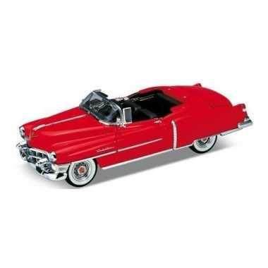 Modelauto cadillac eldorado rood open cabrio 1953 1:34