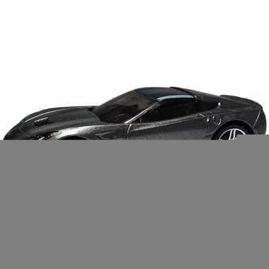 Modelauto chevrolet corvette grijs 1:43