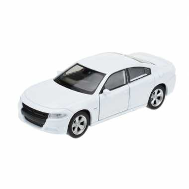 Modelauto dodge charger 2016 wit 1:34