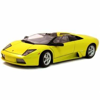 Modelauto lamborghini murcielago roadster geel