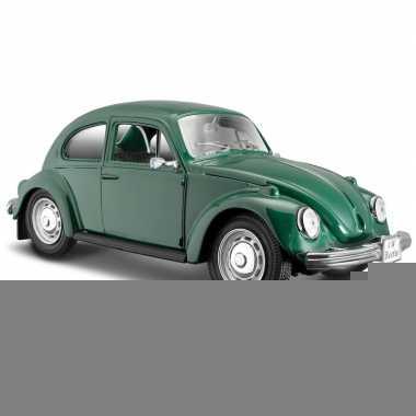 Modelauto volkswagen kever groen 1:24
