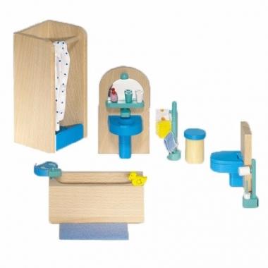 Moderne badkamer meubeltjes voor een poppenhuis