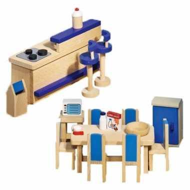 Moderne keuken meubeltjes voor een poppenhuis