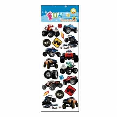 Monster truck stickervellen