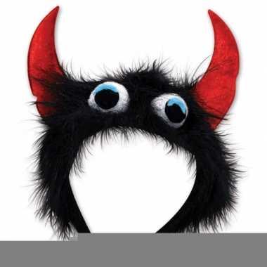 Monster verkleed haarband zwart/rood