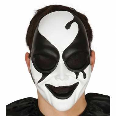 Moordenaar harlekijn masker voor horror themafeest