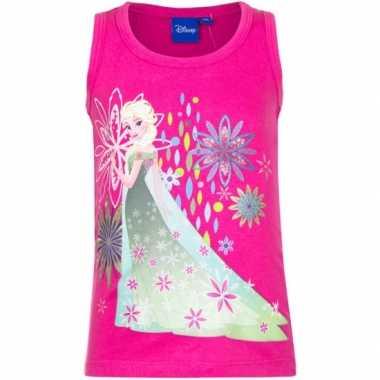 Mouwloos frozen t-shirt roze
