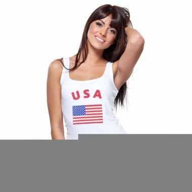 Mouwloos shirt met vlag amerika print voor dames