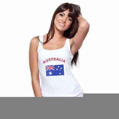 Mouwloos shirt met vlag australi? print voor dames