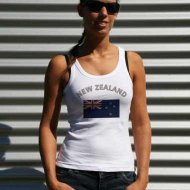 Mouwloos shirt met vlag nieuw zeeland print voor dames