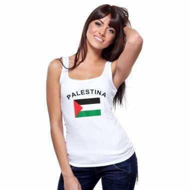 Mouwloos shirt met vlag palestina print voor dames
