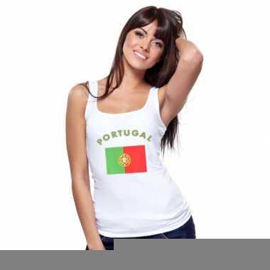 Mouwloos shirt met vlag portugal print voor dames