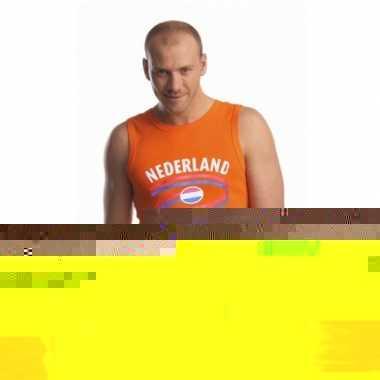 Mouwlose shirts met vlag van nederland heren