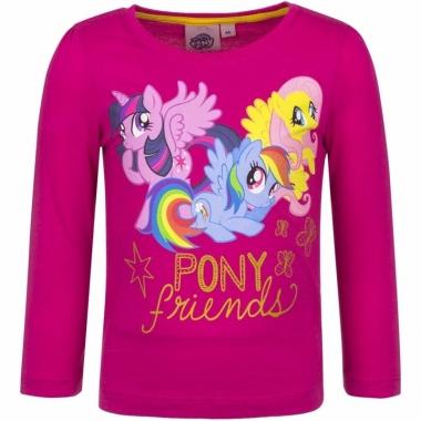 My little pony shirt fuchsia lange mouwen