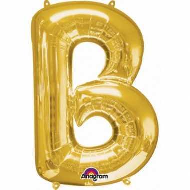 Naam versiering gouden letter ballon b