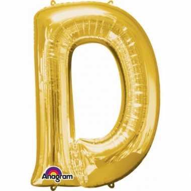 Naam versiering gouden letter ballon d